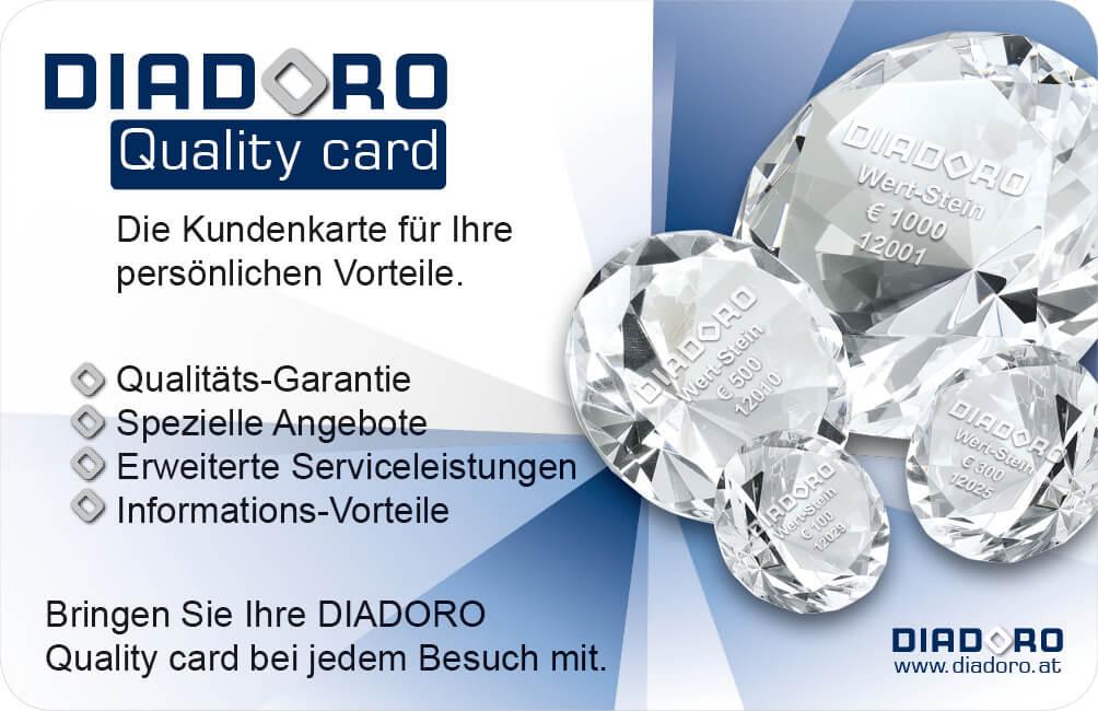 Diadoro Quality card
